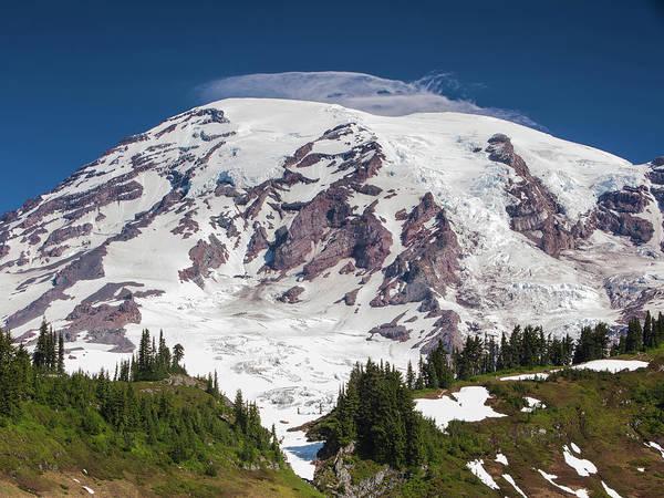 Low Angle View Of Mt Rainier, Mt Art Print