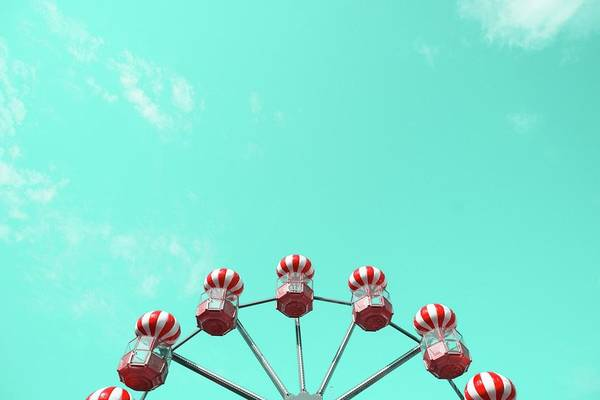 Horizontal Stripes Photograph - Low Angle View Of Red Striped Ferris by Adriana Duduleanu / Eyeem