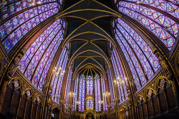 Chapelle Photograph - Low Angle View Of Sainte-chapelle by Panoramic Images