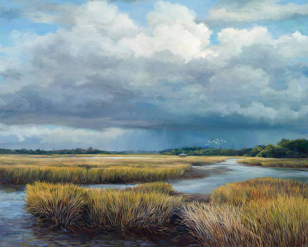 Lake Okeechobee Wall Art - Painting - Low Country by Laurie Snow Hein