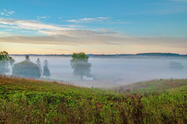 Wall Art - Photograph - Low Fog In Valley Forge by Bill Cannon