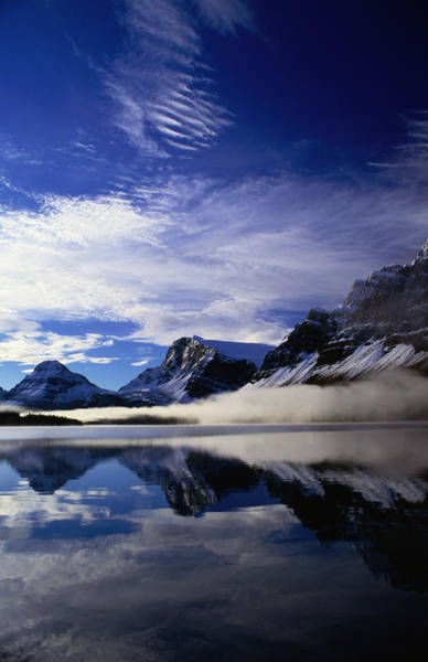 Bow River Wall Art - Photograph - Low Mist On Bow Lake, Banff National by Rick Rudnicki