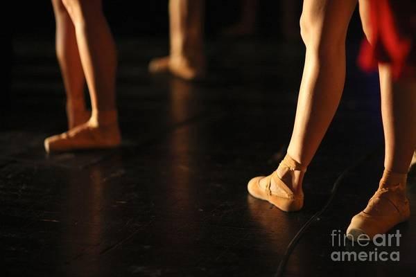 Wall Art - Photograph - Low Section Of Graceful Ballet Dancers by Anna Jurkovska
