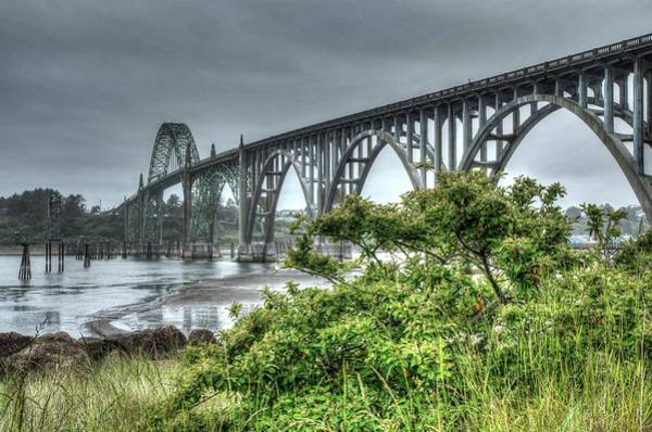 Photograph - Low Tide At The Yaquina Bay Bridge by Thom Zehrfeld