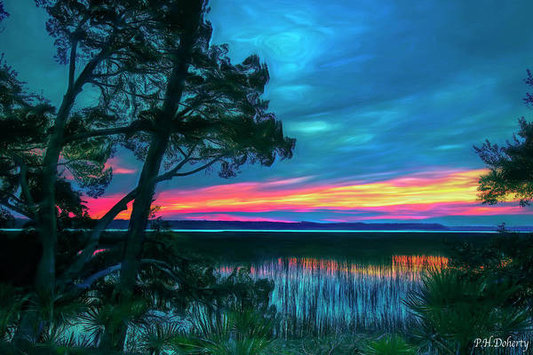 Lowcountry Digital Art - Lowcountry Sunset by Phill Doherty