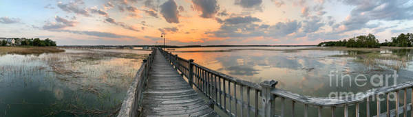 Photograph - Lowcountry Sunset - Rivertowne On The Wando Panorama by Dale Powell