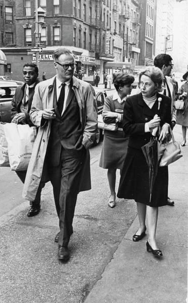 Married Photograph - Lowell & Hardwick On Bleecker Street by Fred W. McDarrah