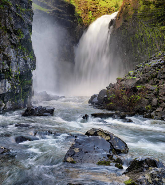 Photograph - Lower Elk River Falls by Leland D Howard