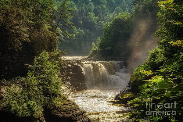 Photograph - Lower Falls Letchworth State Park by Jim Lepard