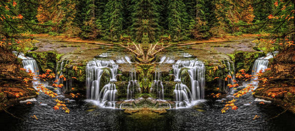 Photograph - Lower Lewis Falls Make Believe by Wes and Dotty Weber