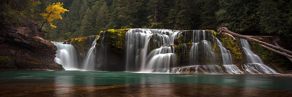 Wall Art - Photograph - Lower Lewis Falls Pano by Ryan Smith