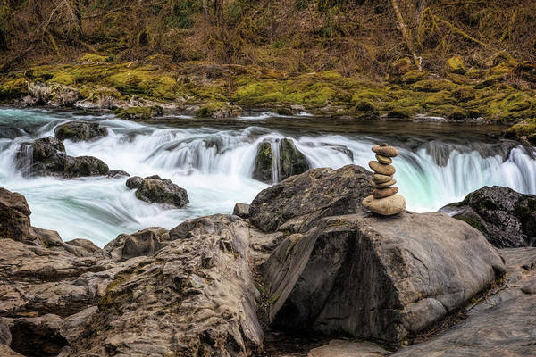 Photograph - Lower Lewis River Zen by Wes and Dotty Weber