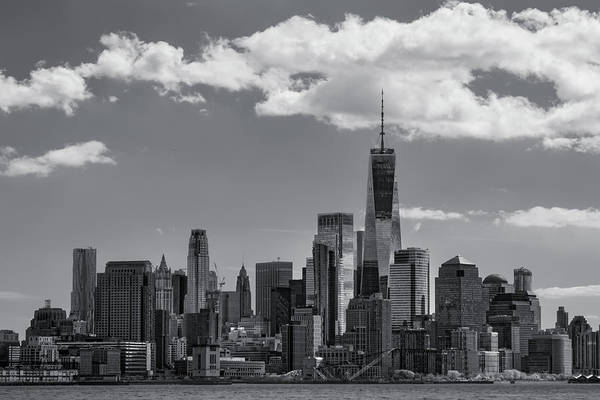 Photograph - Lower Manhattan Nyc Skyline Ir  by Susan Candelario
