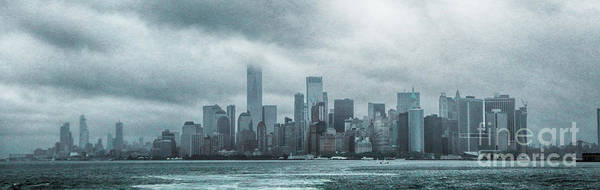 Photograph - Lower Manhattan Panorama by Judy Hall-Folde