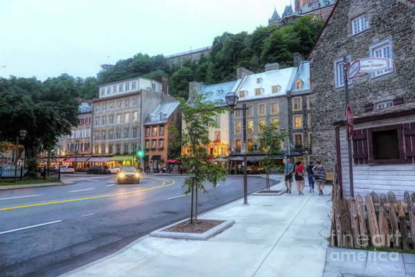 Quebec City Digital Art - Twilight - Lower Town Quebec City by Amy Dundon