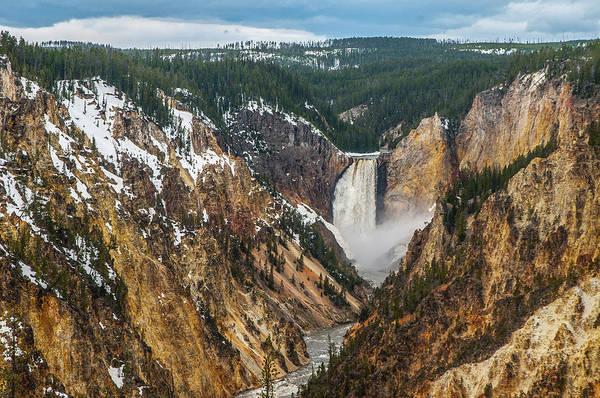 Photograph - Lower Yellowstone Falls - Horizontal by Matthew Irvin