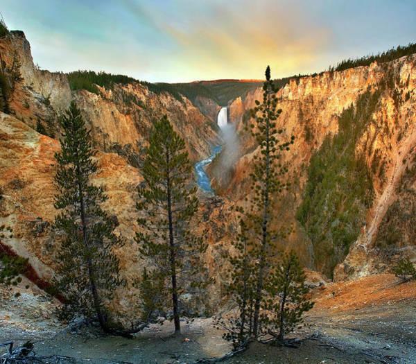 Photograph - Lower Yellowstone Falls, Yellowstone by