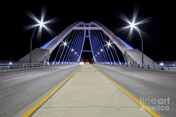 Photograph - Lowry Ave Bridge Minneapolis, Minnesota At Night by Steven Liveoak