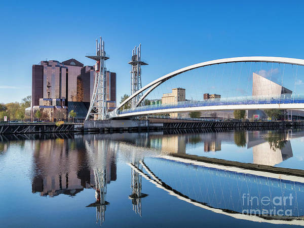 Lowry Photograph - Lowry Bridge, Salford Quays, Manchester, Uk by Colin and Linda McKie