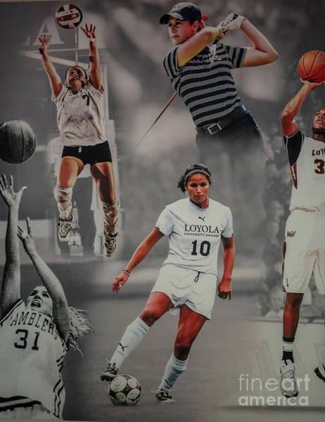 Wall Art - Photograph - Loyola University Collage by David Bearden