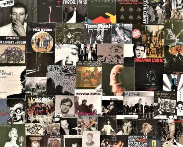 Dan Connor Wall Art - Digital Art - Lps In Black Collage 8 by Doug Siegel