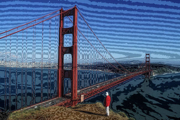 Wall Art - Photograph - Acid Trip At Golden Gate Bridge by Carl Purcell