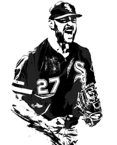 Wall Art - Mixed Media - Lucas Giolito Chicago White Sox Pixel Art 1 by Joe Hamilton