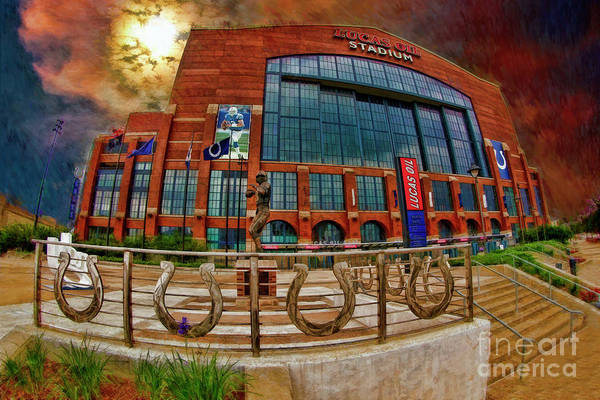 Photograph - Lucas Oil Stadium - Indianapolis, In by Blake Richards