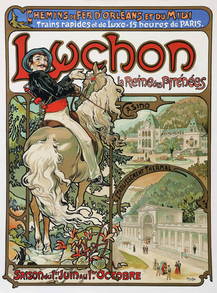Wall Art - Painting - Luchon - Digital Remastered Edition by Alfons Maria Mucha