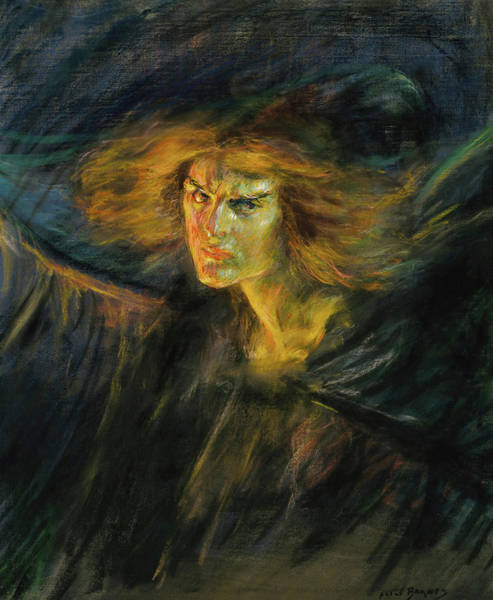 Inferno Painting - Lucifer, 1902 by Alice Pike Barney