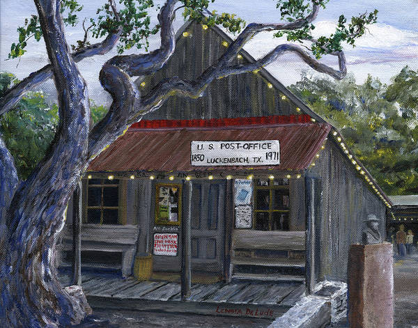 Painting - Luckenbach Texas Hill Country by Lenora  De Lude
