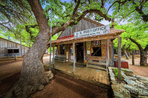 Front Porch Photograph - Luckenbach Town by Inge Johnsson