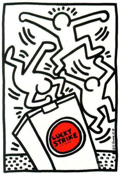 Wall Art - Painting - Lucky Strike by Haring