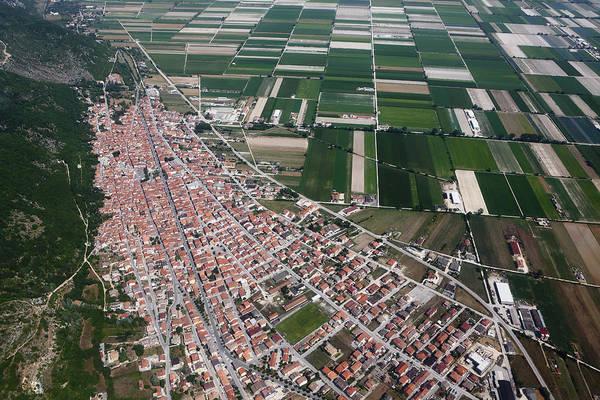 Cultivate Photograph - Luco Dei Marsi, Aerial View by Seraficus