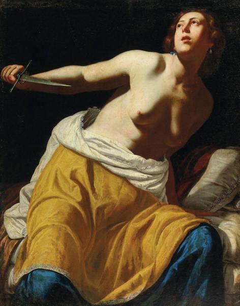 Suicide Painting - Lucretia by Artemisia Gentileschi