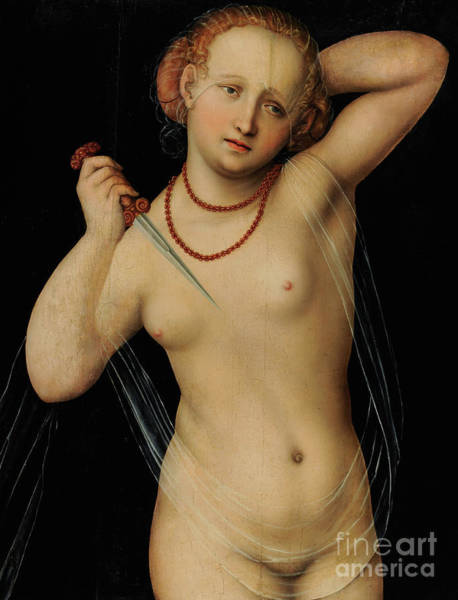 The Elder Painting - Lucretia By Lucas The Elder Cranach by Lucas the elder Cranach
