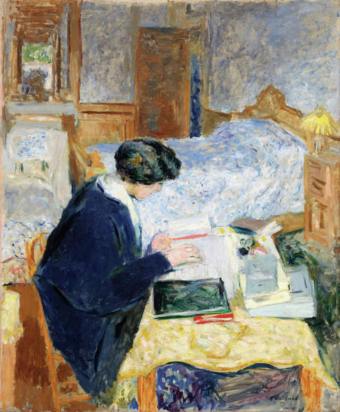 Wall Art - Painting - Lucy Hessel Lisant - Digital Remastered Edition by Edouard Vuillard