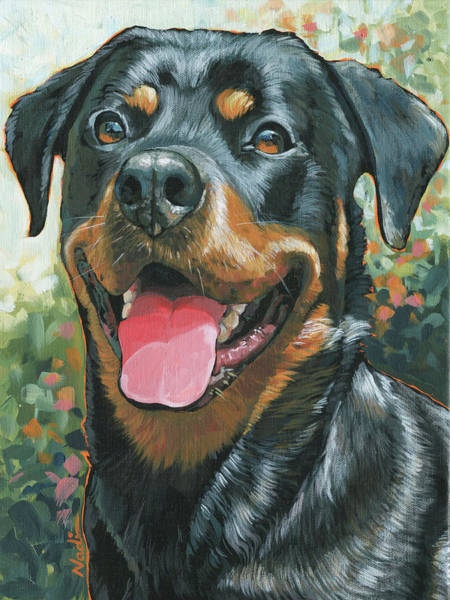 Rottweiler Painting - Lucy by Nadi Spencer