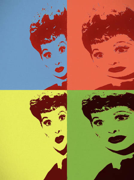 Wall Art - Painting - Lucy Pop Art Panels by Dan Sproul
