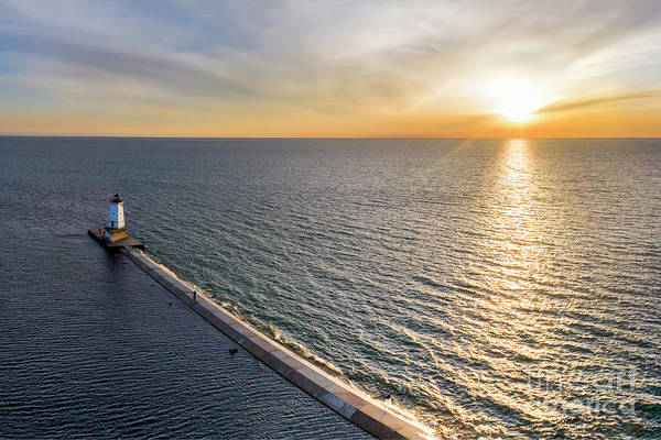 Download Photograph - Ludington Serial Sunset by Twenty Two North Photography