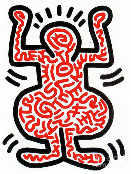 Wall Art - Painting - Ludo by Haring