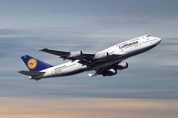 Wall Art - Mixed Media - Lufthansa Boeing 747-430 by Smart Aviation