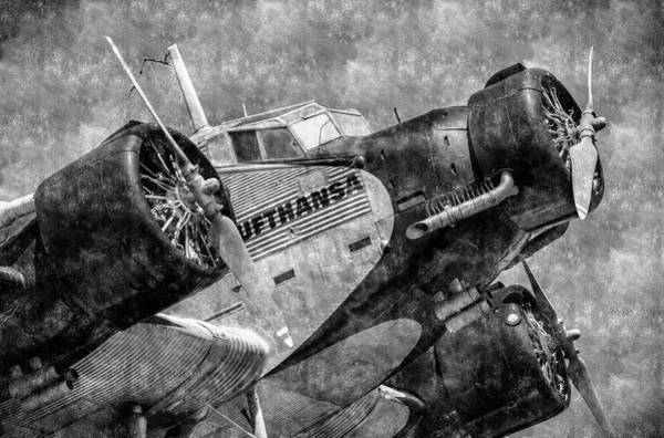 Ju 52 Wall Art - Photograph - Lufthansa Junkers Ju 52/3m Vintage by David Pyatt