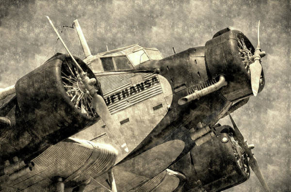 Ju 52 Wall Art - Photograph - Lufthansa Junkers Ju 52 Vintage by David Pyatt