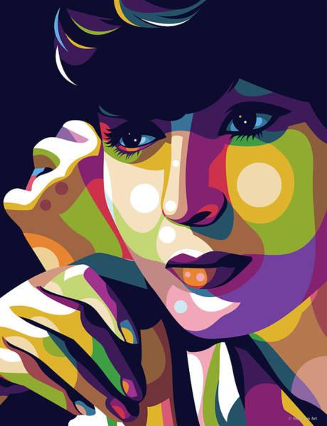 Digital Art - Luise Rainer Illustration by Stars on Art