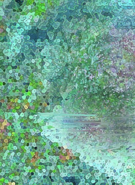 Digital Art - Luka Abstract 218 Emerald by Corinne Carroll
