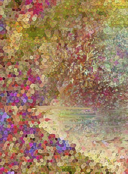 Digital Art - Luka Abstract 218 Gold by Corinne Carroll