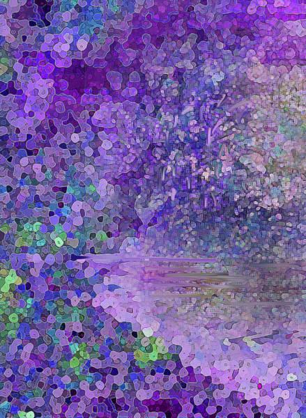 Digital Art - Luka Abstract 218 Purple by Corinne Carroll
