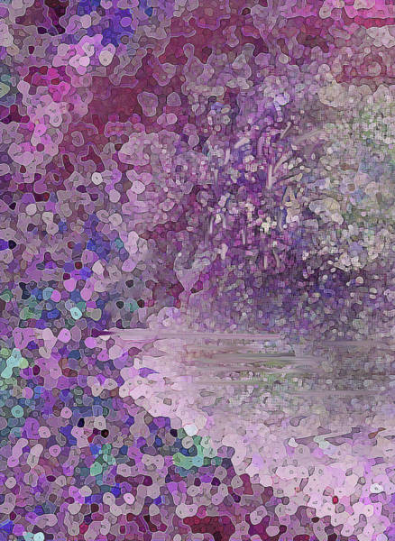 Digital Art - Luka Abstract 218 Rosy Pink by Corinne Carroll