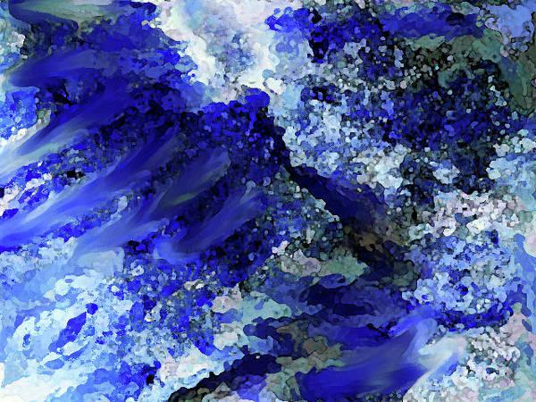 Digital Art - Luka Abstract Blue 211 by Corinne Carroll